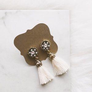 Jewelry - LAST • ivory tassel earrings